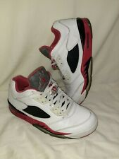 Mens Air Jordan 5 Retro Low Size 10. Fire Red, White & Black