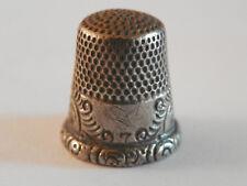 dé a coudre en argent/  silver thimble/Fingerhut Silber