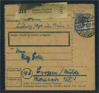 SBZ PAKETKARTE 1948 Nr 196 siehe Beschreibung (115422)