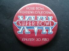 "Super Bowl XVII Football Pin 1983 Rose Bowl 3 1/4"""