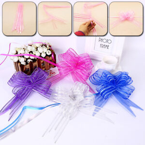 10Pc Bow Hand Pull Garland Wedding Christmas Gift Wrapping Decor Party Supplies