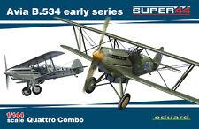 Eduard 4451 Super44 1:144th scale Avia B.534 Early Series Quattro Combo