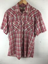 Youngbloods Men's Large SS Western Short Sleeve Pearl Snap