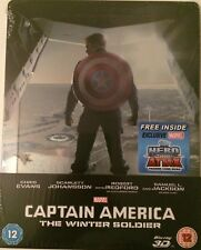 Captain America The Winter Soldier 3D Blu-ray Marvel UK Steelbook - Disney - New