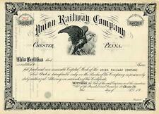New listing 189_ Union Railway Stock Certificate