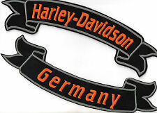 HARLEY Davidson GERMANY Banner Set PATCH RICAMATE 2 pezzi tonaca Biker MC Chopper