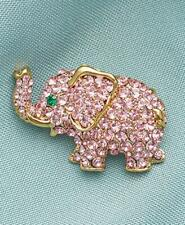Add Whimsey & Sparkle With This Pink Crystal Elephant Pin New