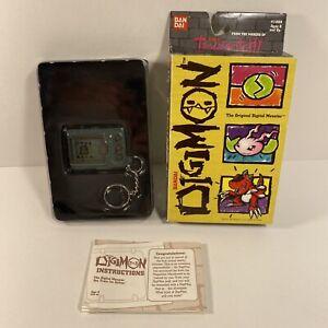Bandai Original #1850 - Digimon Tamagotchi 1997 Blue Gray Version - With Box