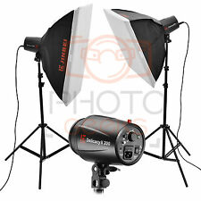 Flash Studio Kit De Iluminación - 400w (2x200w) Jinbei Softbox Fotografía Estroboscópica Set