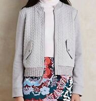Anthropologie Saturday Sunday Grey Cable Knit Jacket, Size XS