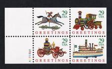 USA 1992 Christmas Greetings 29¢, MNH block of 4, sc#2714a [selvedge]