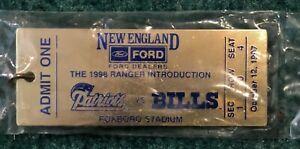 "1998 Ford Promo NEW ENGLAND PATRIOTS vs BUFFALO BILLS 10/12/97 4"" Key Chain"