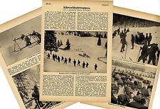 Schneeschuhtruppen (Entwicklung und Kriegseinsatz)  Text-& Bilddokumente 1915