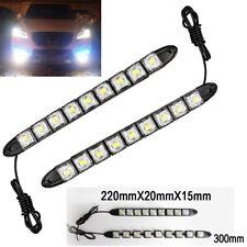9 LED 6K White Waterproof Universal DRL Flexible Strip Turn Signal Light BM A V