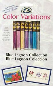 8 Skeins of DMC Floss / Thread Color Variations Blue Lagoon Collection 417XUS5/3