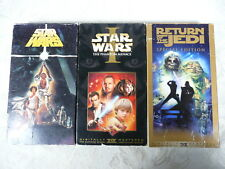 Lot of 3 Vhs Star Wars Movies Vcr Tested Movie Science Fiction Collectible
