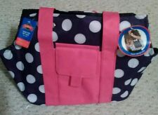 New listing Grreat Choice Snap-Top White Dots Pet Black/Pink Tote Up To 11 Lbs
