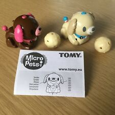 Tomy Micropets Cyber Pets x2 Brown Dog Puppy Interactive Electronic Toy Figure