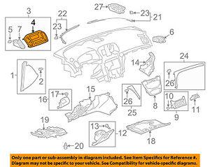 Buick GM OEM 11-12 Regal Instrument Panel Dash-Vent Panel 13321695