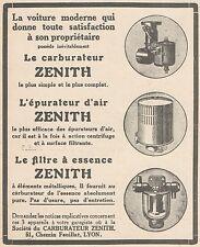 Z8276 Epurator d'air ZENITH - Pubblicità d'epoca - 1927 Old advertising