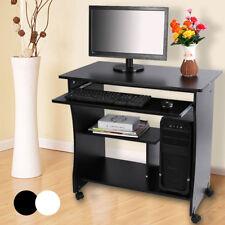 computertisch pc laptop schreibtisch arbeitstisch brotisch weischwarz lig 02 - Computertisch Fr Imac 27