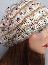 Beanie Beret Slouch Hand Knit Designer Fashion Hip Chic Winter Snow