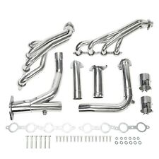 For Chevy Gmc 07-14 4.8L 5.3L 6.0L Long Tube Stainless Steel Headers w/ Y Pipe (Fits: Gmc)