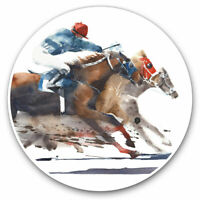 2 x Vinyl Stickers 7.5cm - Horse Racing Jockey Race Cool Gift #21697