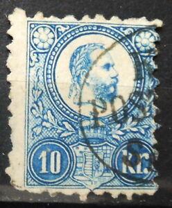 HUNGARY - FRANZ JOSEPH 1871 MI: 10 USED