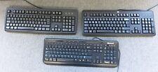 3 x Microsoft HP Chicony  X823078-003 KU-1156 KU-2971 Black USB Wired Keyboard