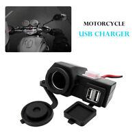 12V USB Motorcycle Motorbike Charger Power Adapter Socket Phone GPS Waterproof