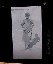 c1900 - EGYPTIAN STREET BOY - Glass Lantern Photo Slide