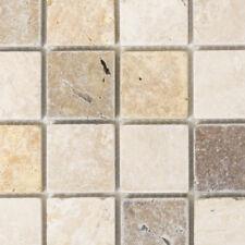 Travertin Mosaik beige/braun Küche Wand WC Fliesenspiegel Art:WB43-46685|1 Matte