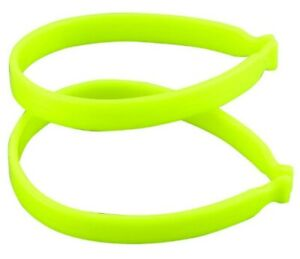 Cycle Clips Reflective Trouser Bands Fluorescent Bike Safety Protective Pair