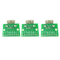 3PCS USB 3.0 Female Type Head To DIP 2.54mm 9pin Converter Connectors