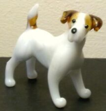 """Hand Made Blown """"Murano"""" Glass Collectable Jack Russell Terrier Dog Figurine"""