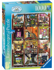 """Jigsaw Puzzles 1000 Pieces """"Higgledy-Piggledy House"""" Colin Thompson/Ravensburger"""