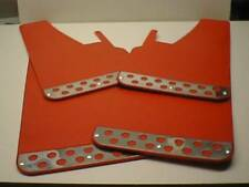 Red RALLY Mud Flaps Splash Guards fits RENAULT FLUENCE
