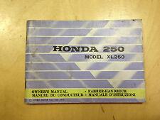 Honda xl 250 mode d'emploi/conducteur manuel (1973)