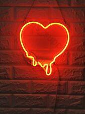 "New Melting Heart Red Acrylic Wall Decor Artwork Neon Light Sign 13""x12"""