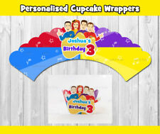 12x WIGGLES PERSONALISED CUPCAKE WRAPPER TOPPER PARTY SUPPLIES LOLLY LOOT BAGS