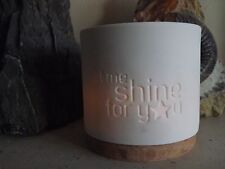 Spaas Porcelain Tealight Holder X 3 Inscribed With Sentiments - See Listing