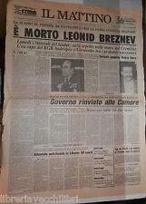 12 Novembre 1982 Morto Leonid Breznev Walesa libero Spadolini Pertini Andropov