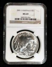 2001 D Buffalo Commemorative Silver Dollar NGC MS 69