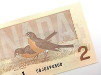 1986 Canada 2 Dollar Two Dollar Uncirculated CBJ Bonin Thiessen Banknote R934