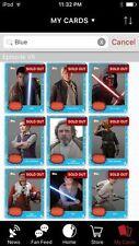 Topps Star Wars Digital Card Trader 12 Card FA Blue Movie Photo Insert Set