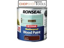 Ronseal RSL38783 10 Year Weatherproof Wood Paint Dark Oak Gloss 2.5 Litre