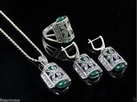 conjunto bisuteria aleacion Vintage Alloy Silver Plated Jewelry set