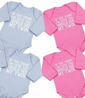 BABYPREM Baby Clothes 2 X TWINS TWIN BOYS GIRLS Cute Bodysuit One Piece Singlets