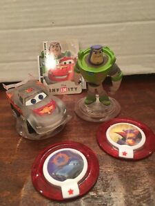 Disney Infinity Race to Space Pack Buzz Lightyear McQueen Crystal Zurg Disc Lot